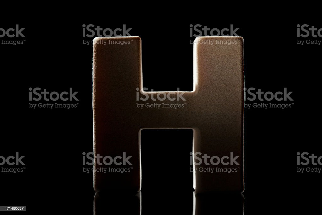H, wood letter royalty-free stock photo