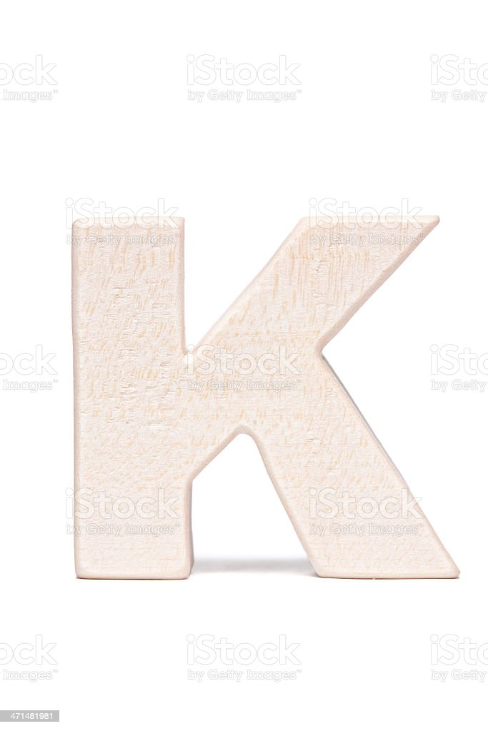 K, wood letter royalty-free stock photo
