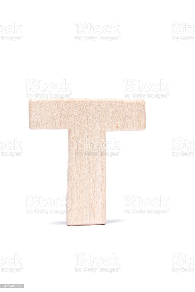 T, wood letter royalty-free stock photo