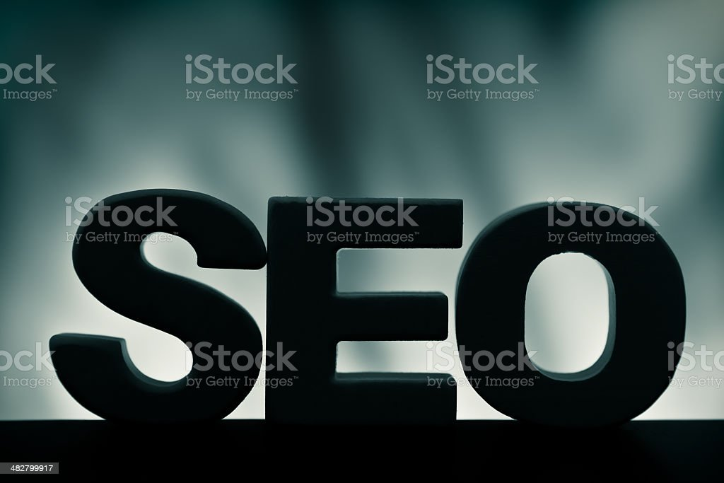 SEO, wood letter word royalty-free stock photo