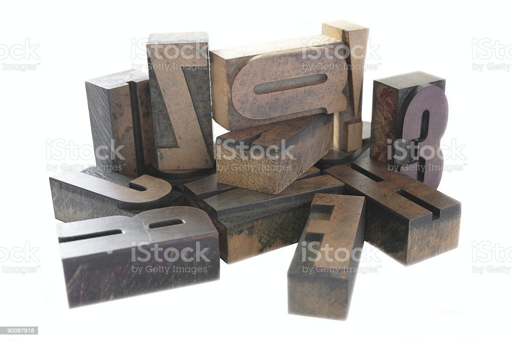 wood letters 2 royalty-free stock photo
