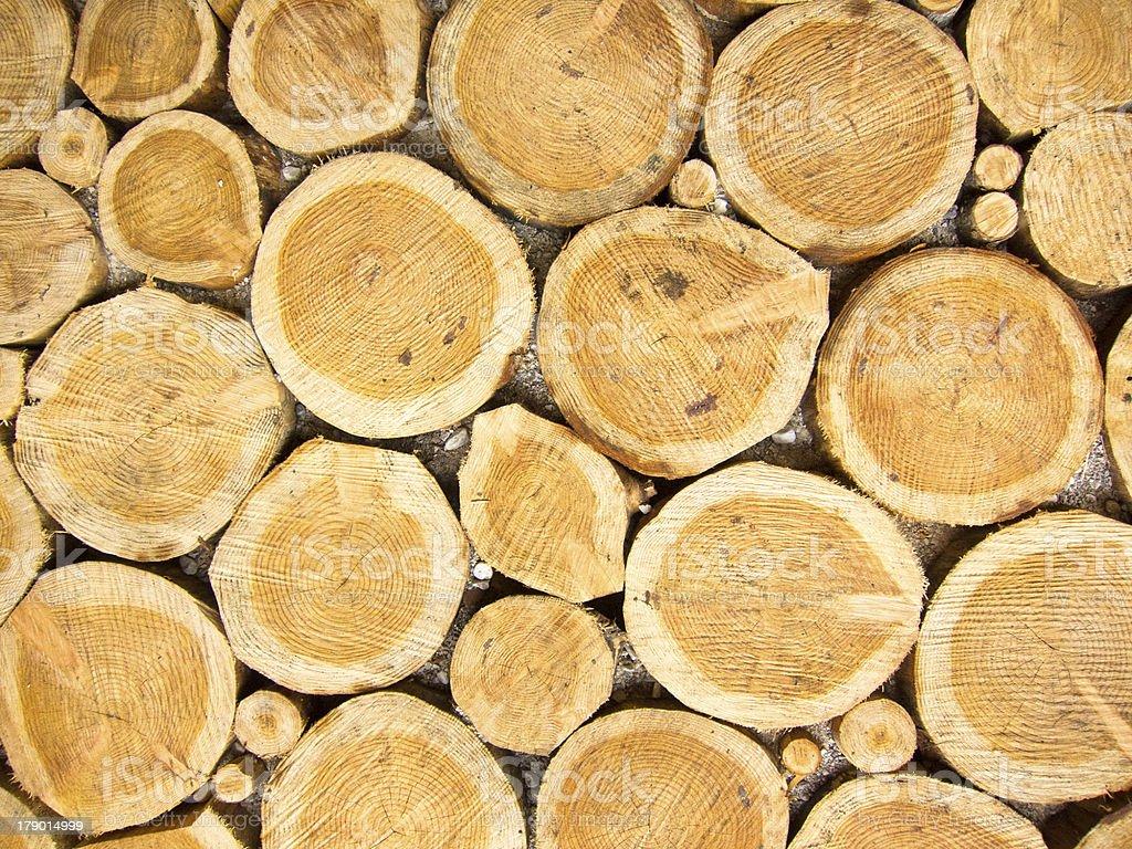 Wood log pile background royalty-free stock photo
