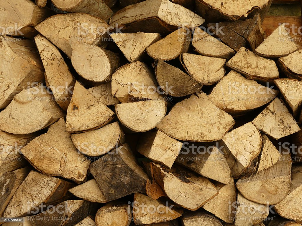 Wood logs for fire stock photo