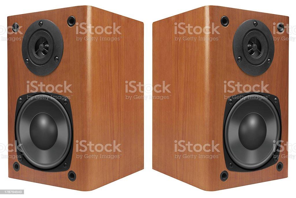 Wood Loud Speakers stock photo