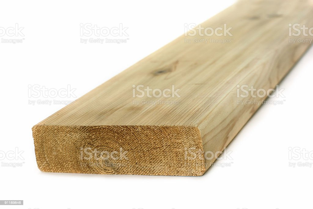 Wood lumber board isolated royalty-free stock photo