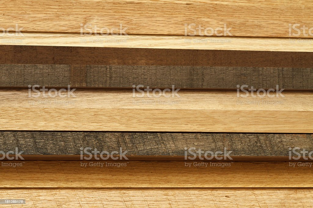 Wood Lumber Stack As Viewed From The Side royalty-free stock photo
