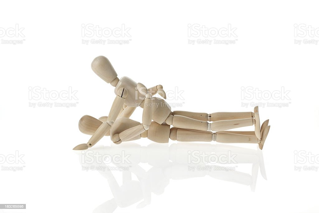 wood mannequin sex royalty-free stock photo