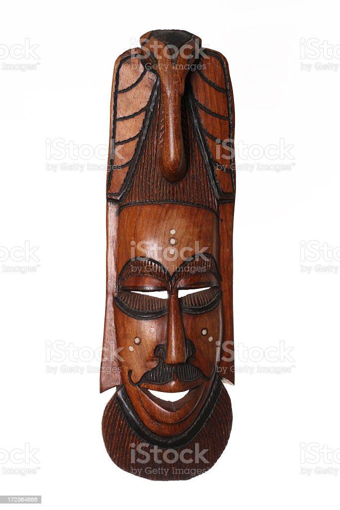 Wood mask Isolated on White Background royalty-free stock photo