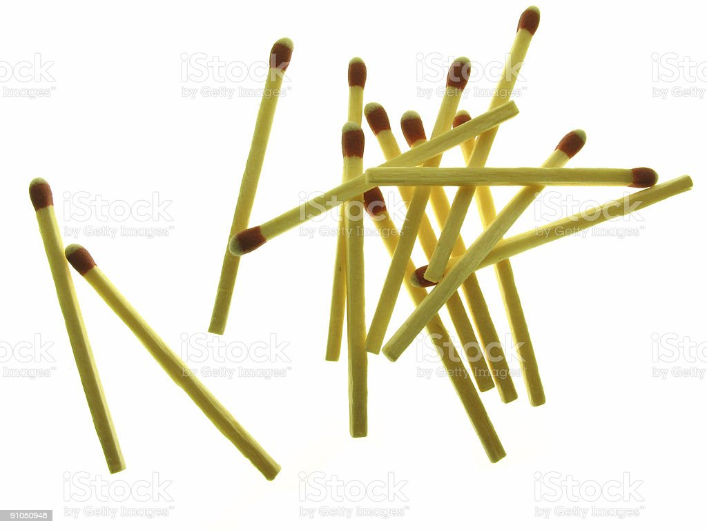 Wood matches royalty-free stock photo