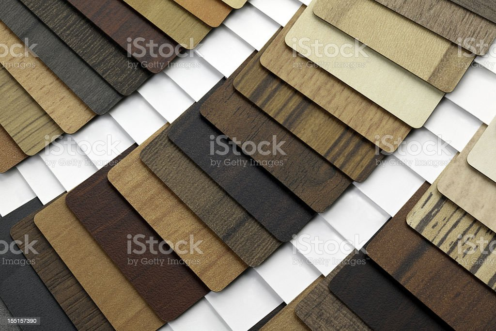 Wood Melamine Swatches royalty-free stock photo