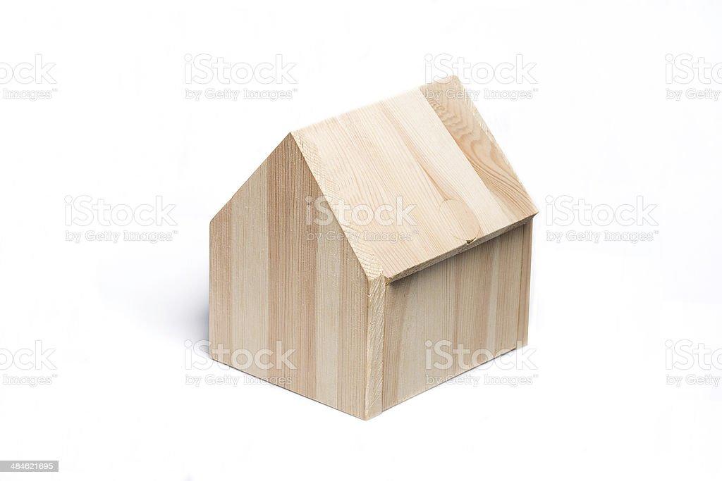 mini casa de madera foto de stock libre de derechos