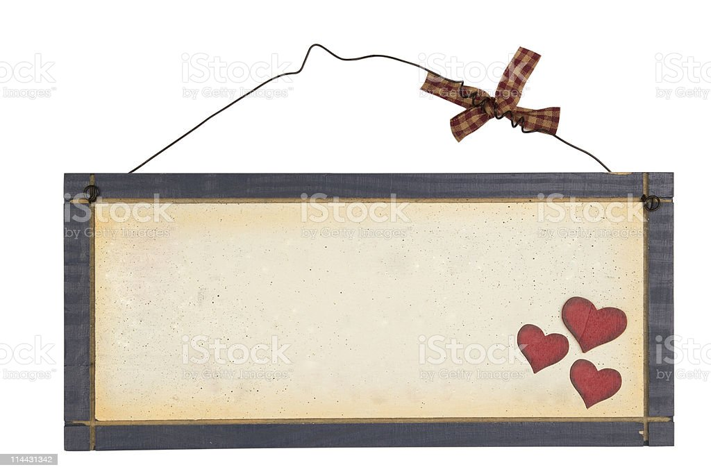 Wood notice board royalty-free stock photo