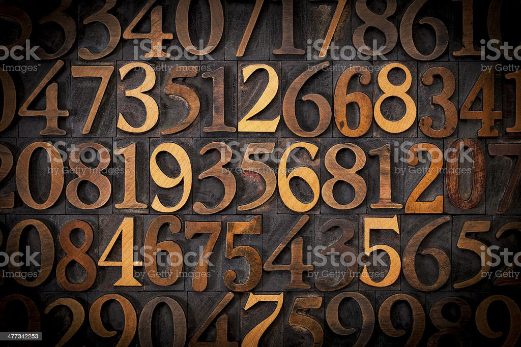 wood number background stock photo