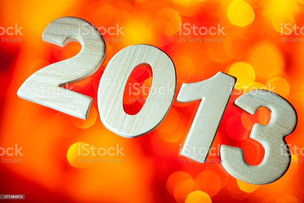 2013, wood number royalty-free stock photo