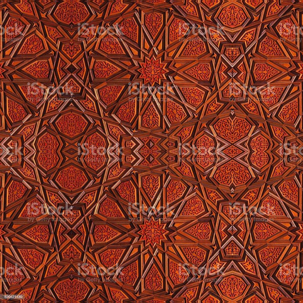 Wood Ottoman Turkish stock photo