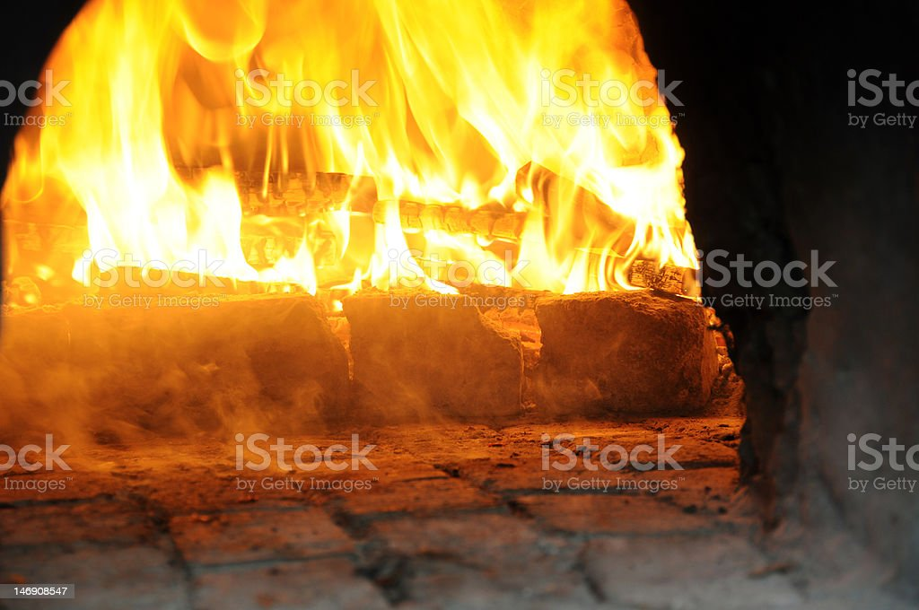 Wood Oven, Fired Up and Smoking royalty-free stock photo