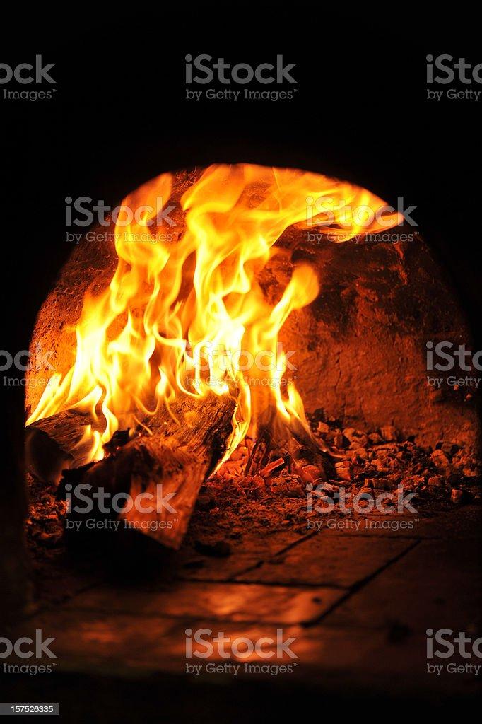 Wood oven stock photo