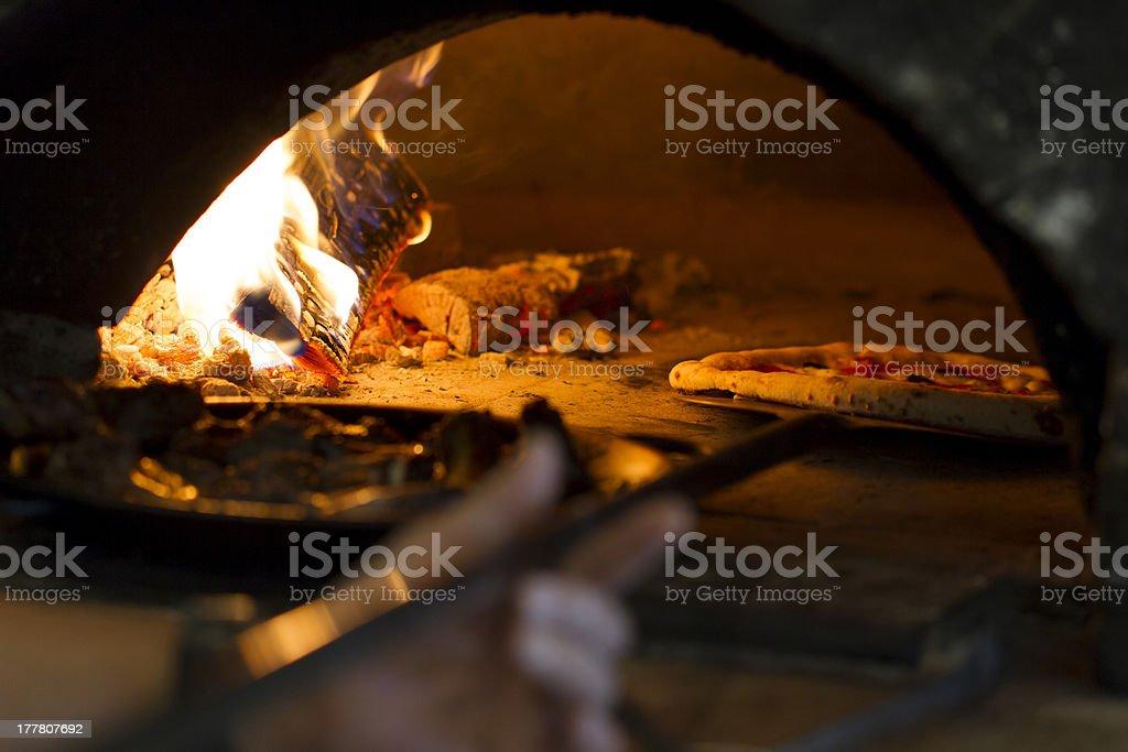 Wood Oven Pizza stock photo