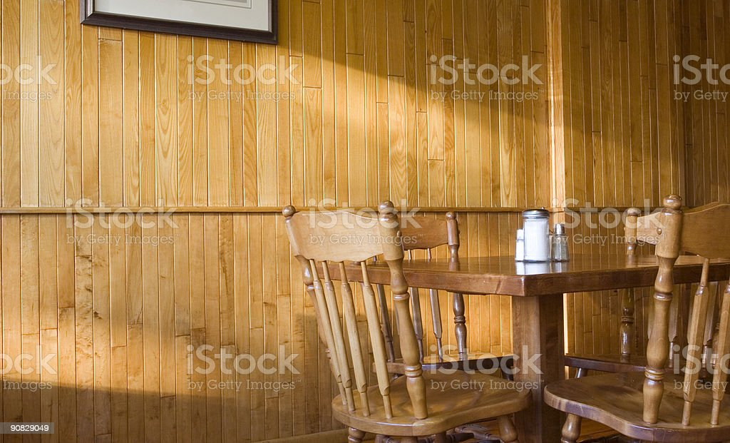 Wood Panel Diner royalty-free stock photo