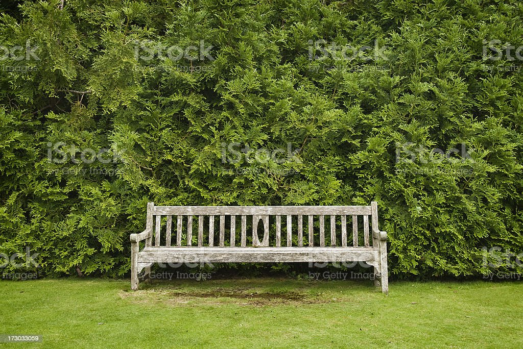 Wood park bench royalty-free stock photo