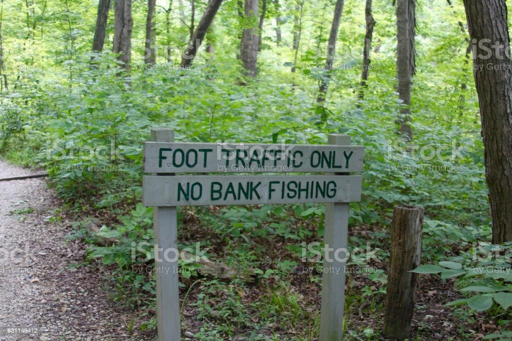 Wood Park Sign stock photo