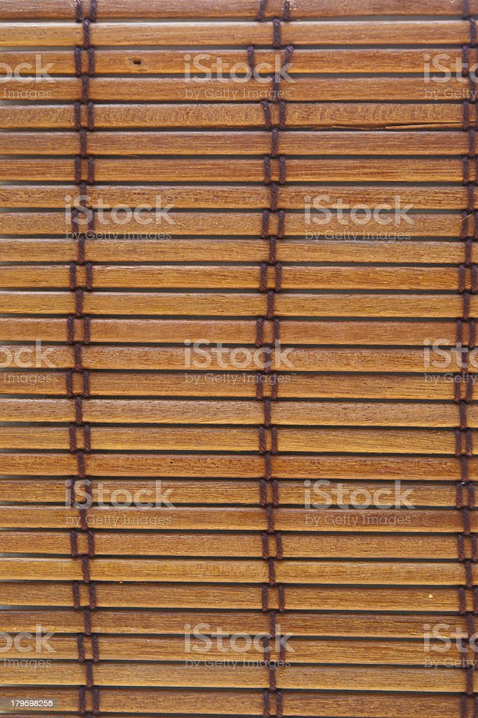 wood pattern weave with many brown thread stock photo