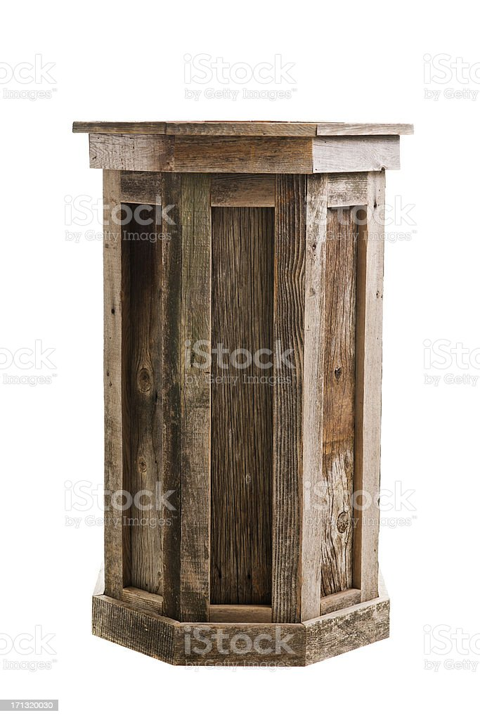 Wood Pedestal royalty-free stock photo