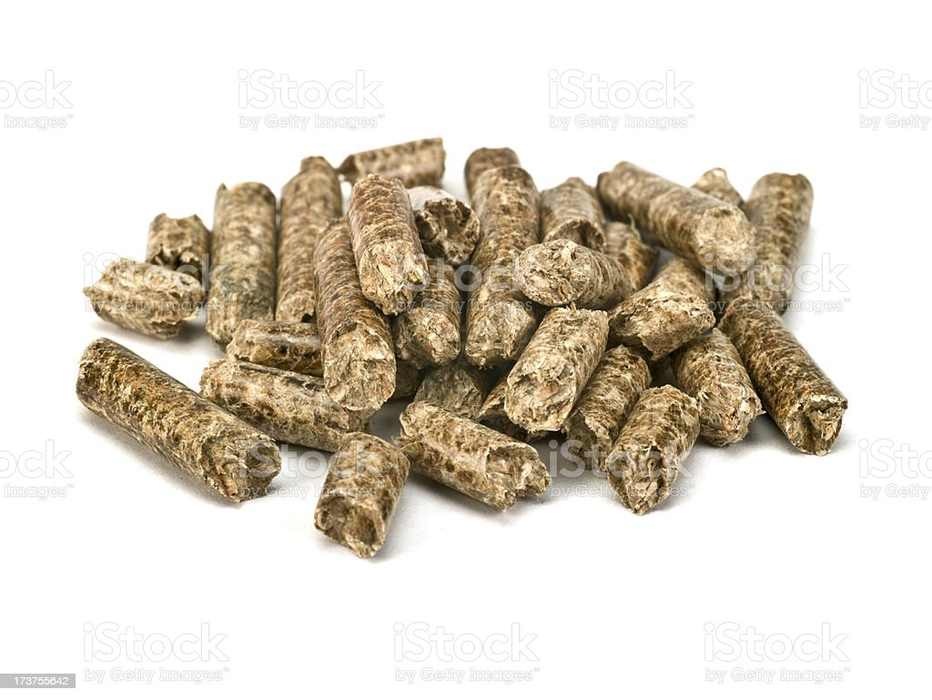Wood pellet detail royalty-free stock photo