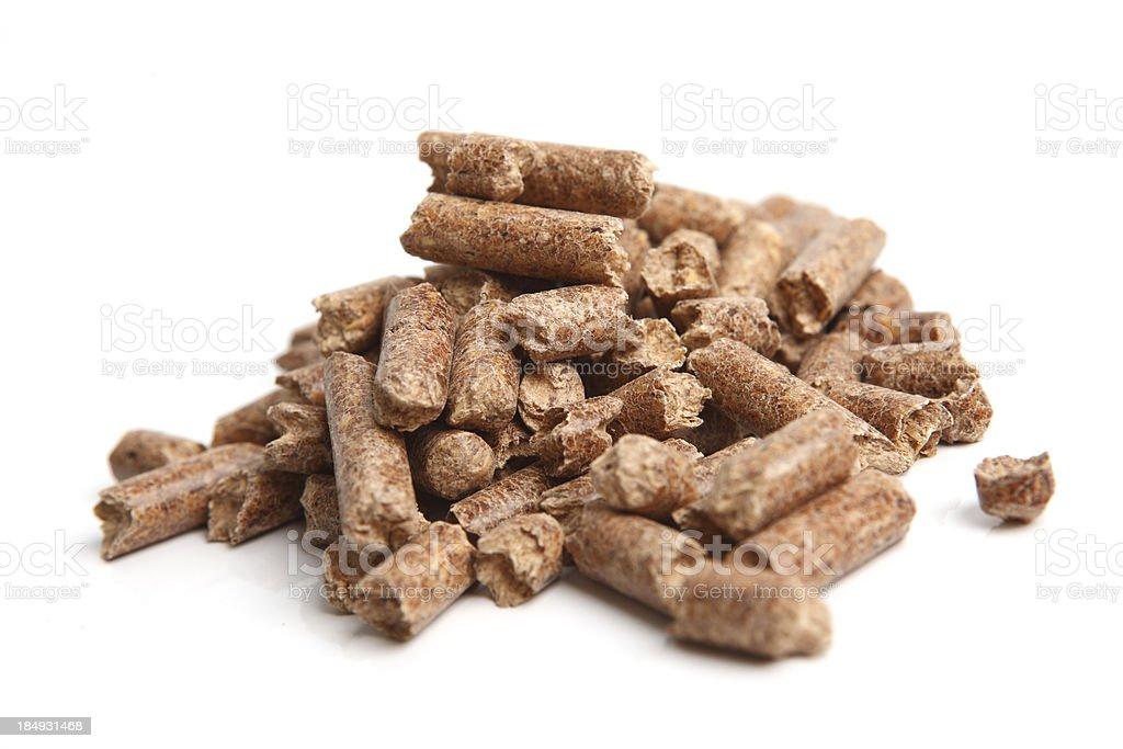 Wood pellet detail XXXL stock photo
