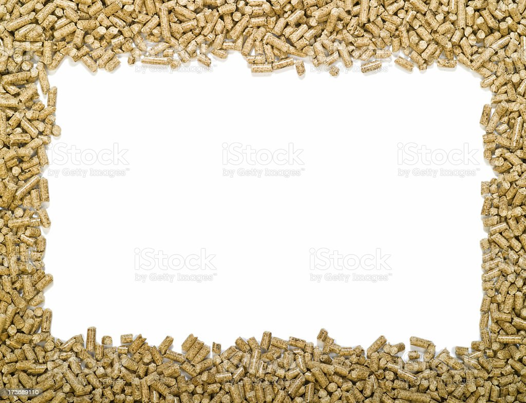Wood Pellets frame large opening royalty-free stock photo