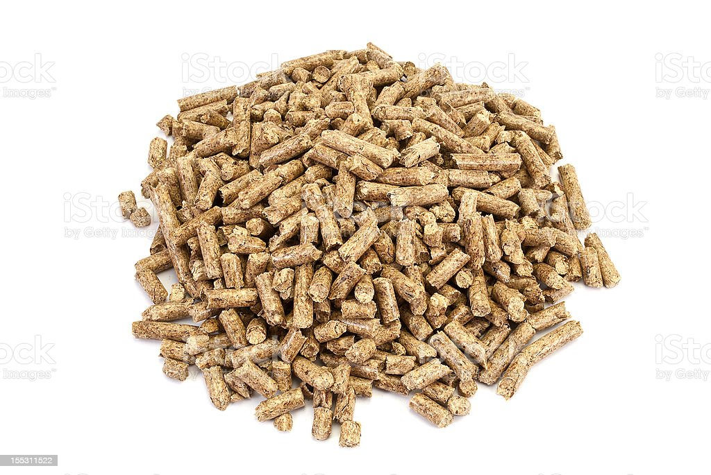 Wood pellets. stock photo