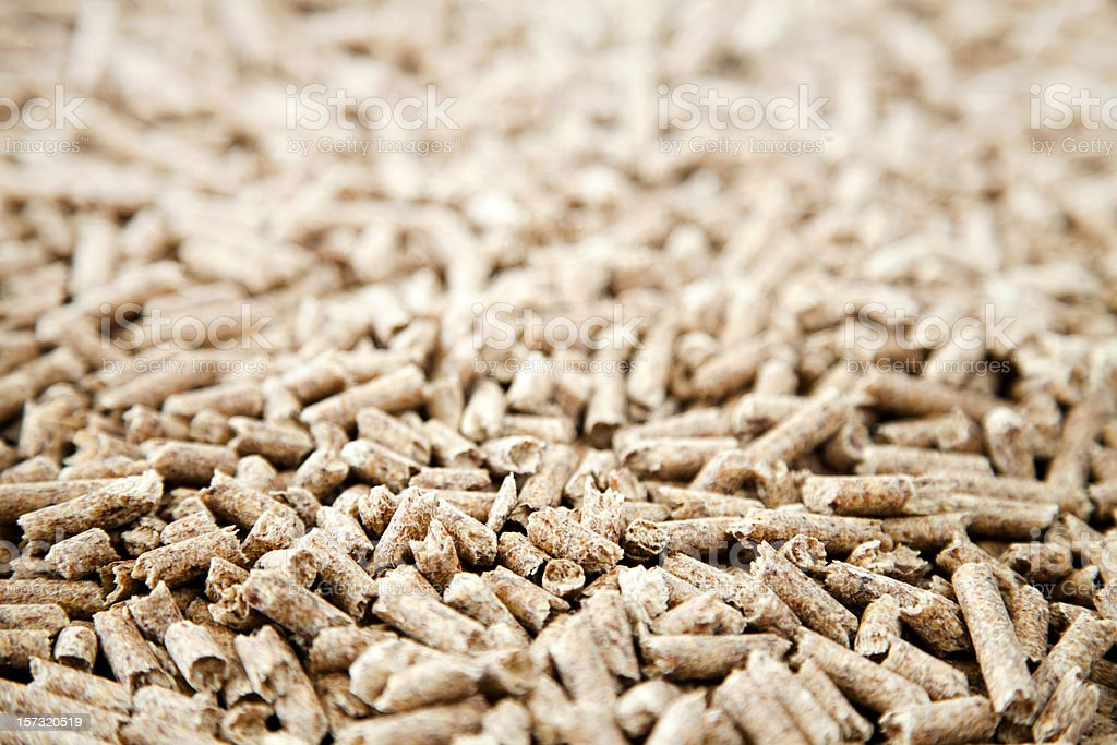 Wood pellets stock photo