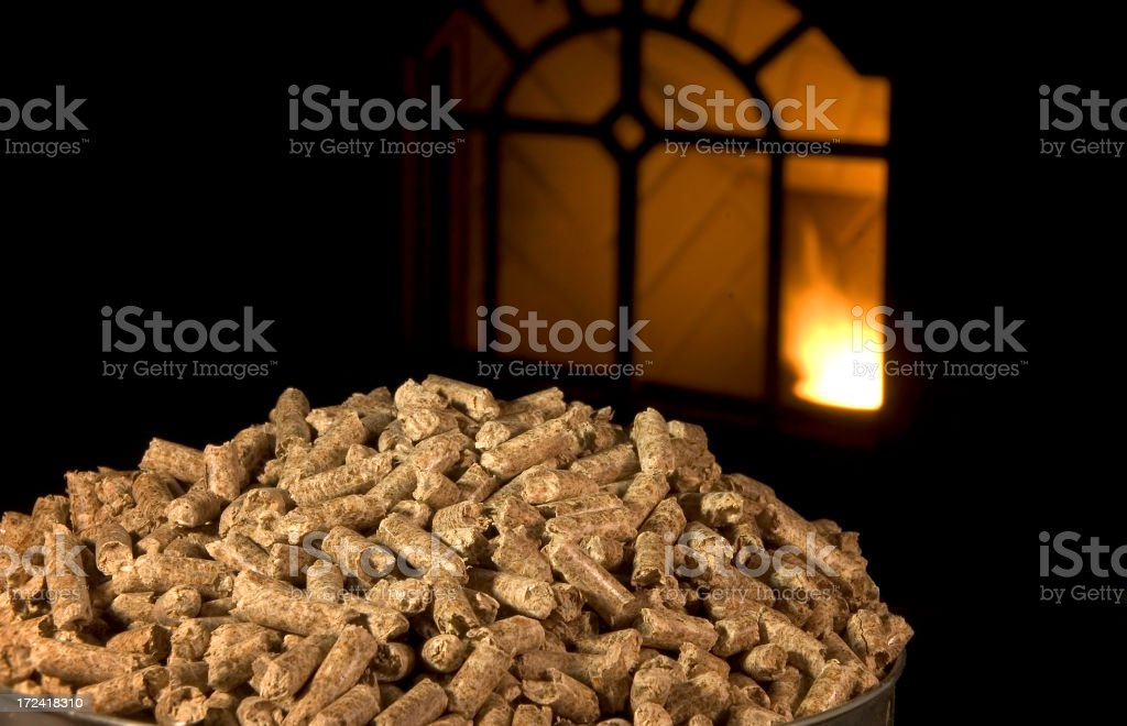 Wood Pellets royalty-free stock photo