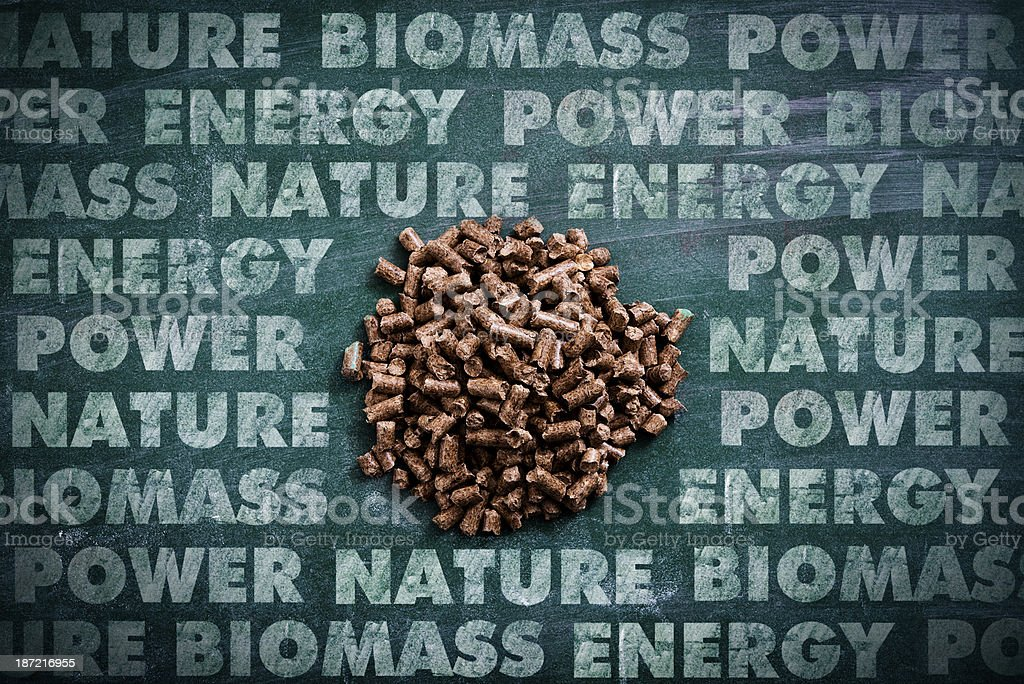 Wood pellets royalty-free stock photo