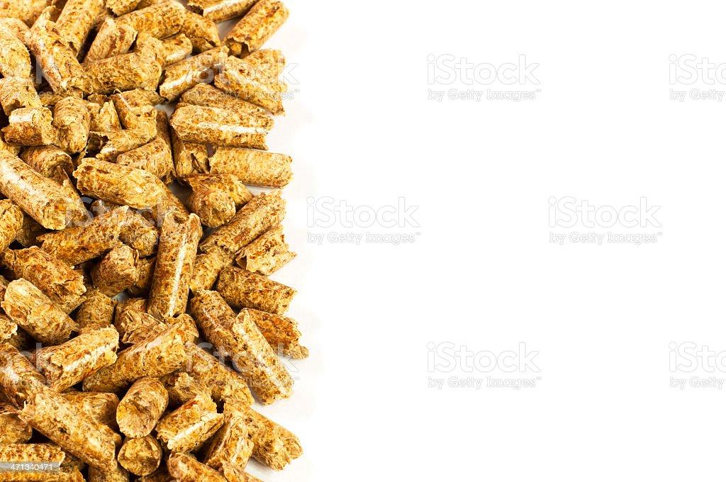 Wood pellets stock photo