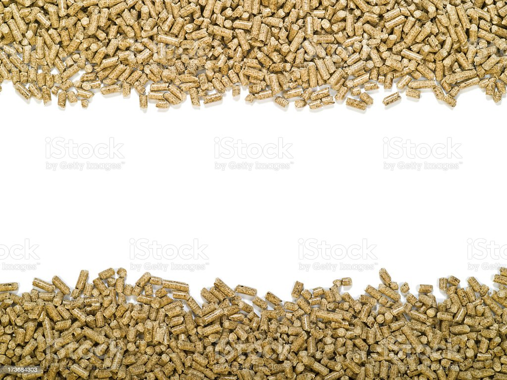 Wood Pellets Top and bottom bars stock photo