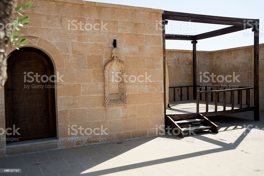 Wood Pergola royalty-free stock photo