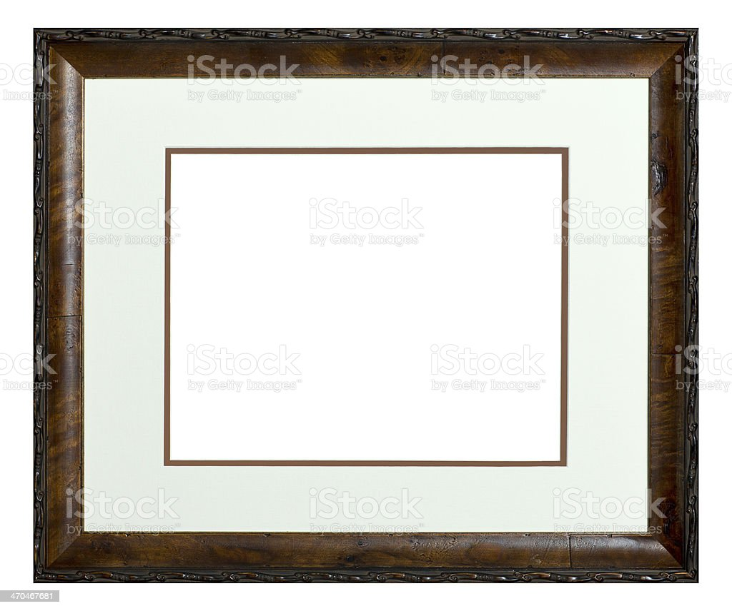 Wood Picture Frame Isolated stock photo