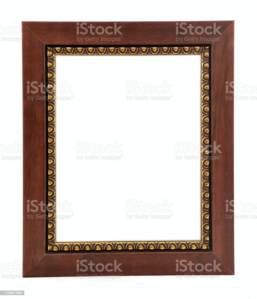 wood picture frame royalty-free stock photo