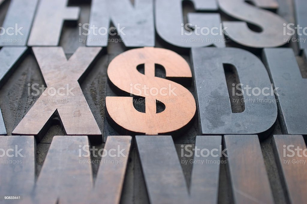 Wood $ royalty-free stock photo