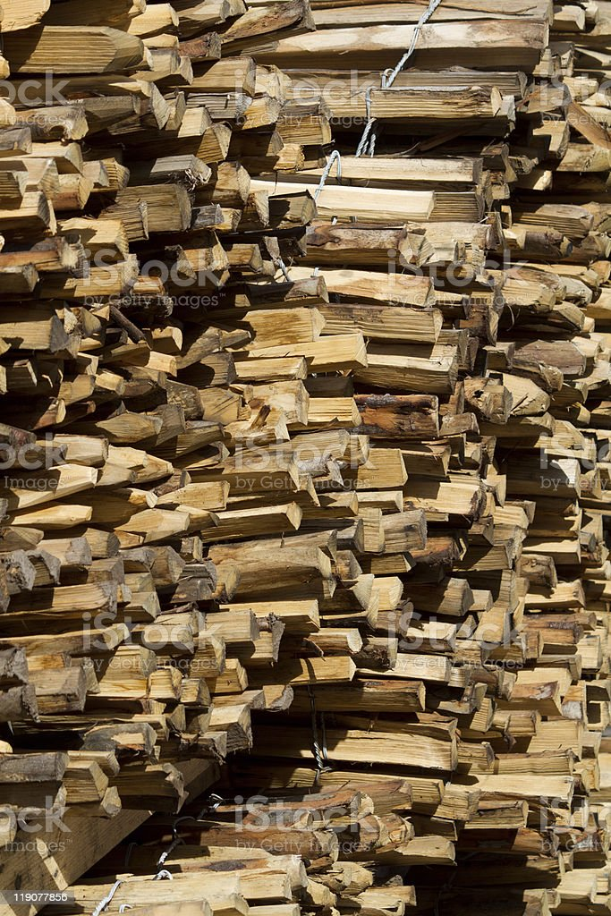 Wood Pile of  fence posts royalty-free stock photo