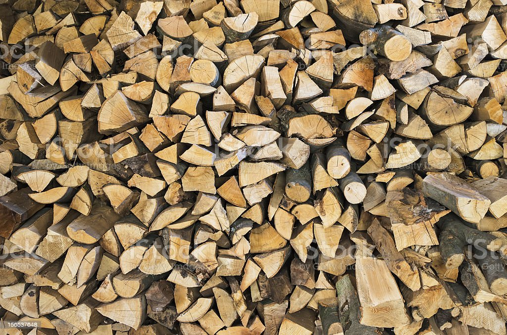wood pile royalty-free stock photo