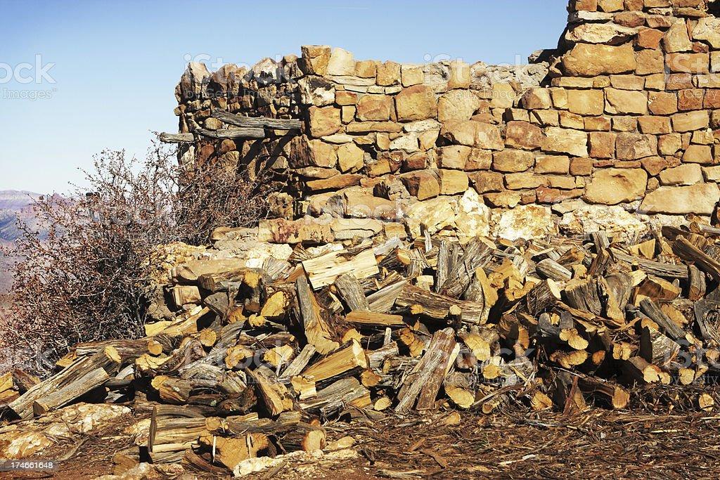 Wood Pile Pueblo Indian Ruin royalty-free stock photo