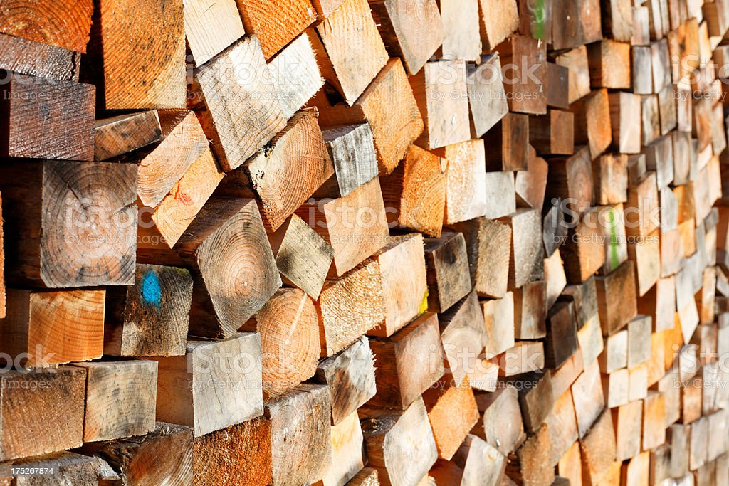 wood piles for firewood royalty-free stock photo