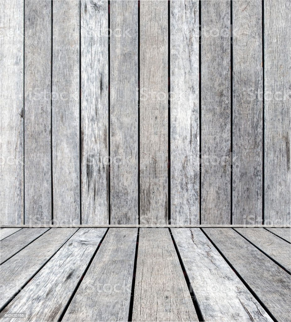 Wood plank gray on wall plank sorted stock photo