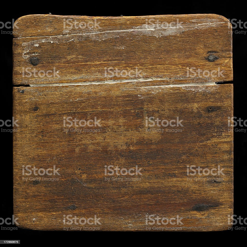 Wood plank on black royalty-free stock photo