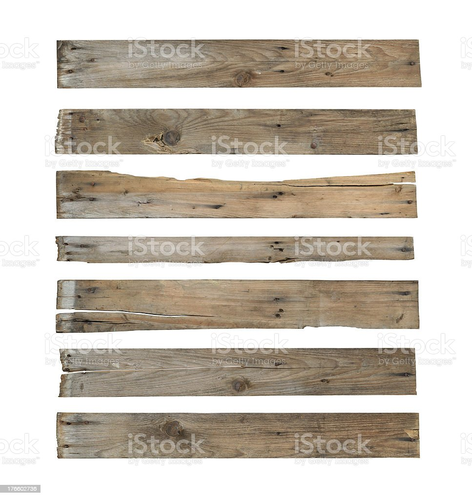 Wood plank (with clipping path) stock photo