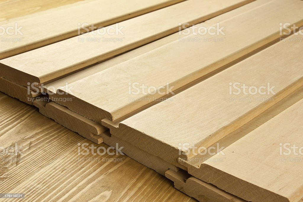 Wood planks are on a wooden board royalty-free stock photo