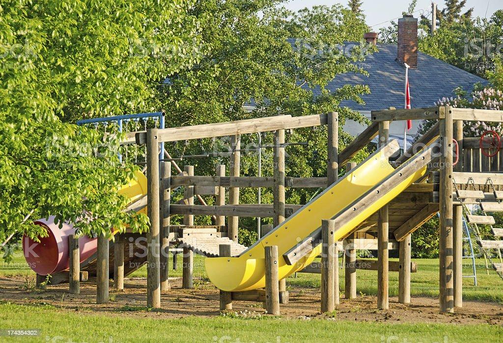 Wood Playground Equipment royalty-free stock photo