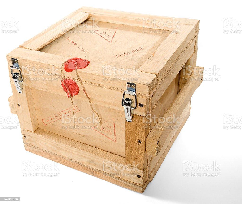 wood post box royalty-free stock photo
